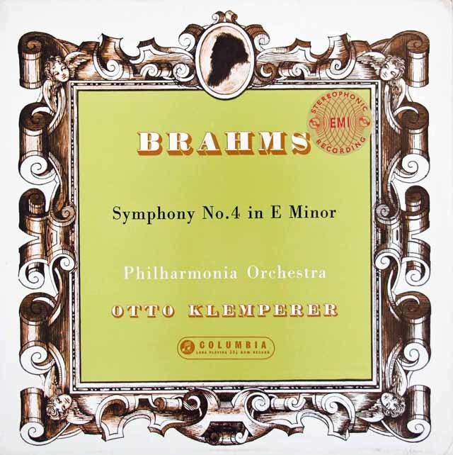 【オリジナル盤】 クレンペラーのブラームス/交響曲第4番 英Columbia 3025 LP レコード