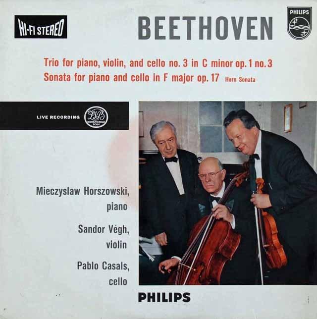 カザルストリオのベートーヴェン/ピアノ三重奏曲第3番ほか 蘭PHILIPS  3285 LP レコード