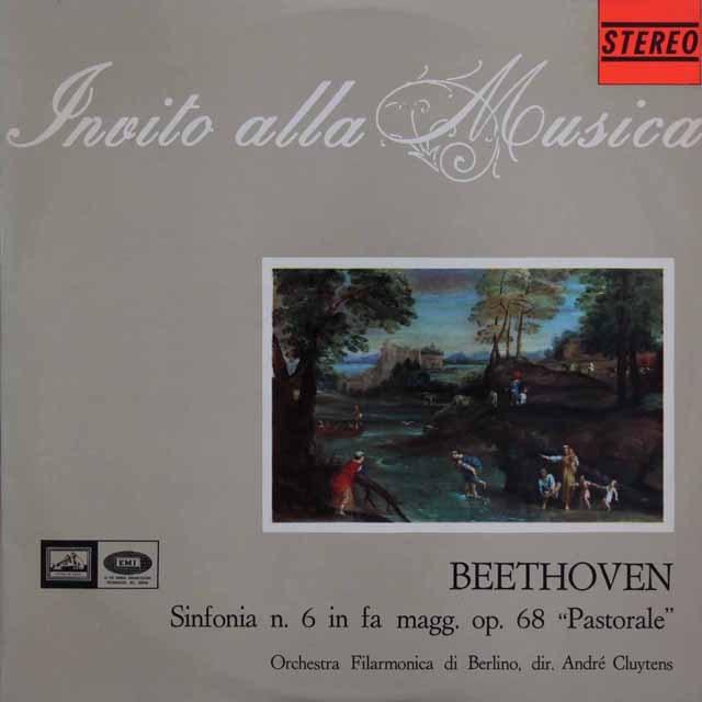 クリュイタンスのベートーヴェン/交響曲第6番「田園」 伊EMI 2922 LP レコード