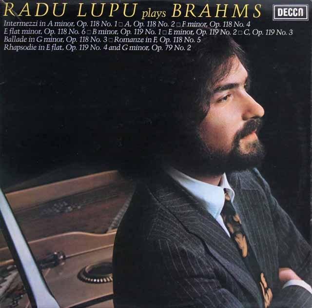 【オリジナル盤】ルプーのブラームス/ピアノ作品集 英DECCA 2914 LP レコード