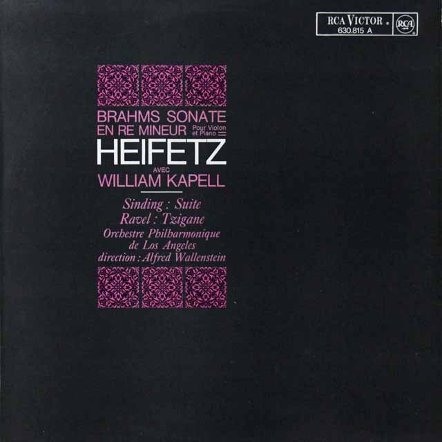 ハイフェッツのブラームス/ヴァイオリンソナタ第3番ほか 仏RCA 2703 LP レコード