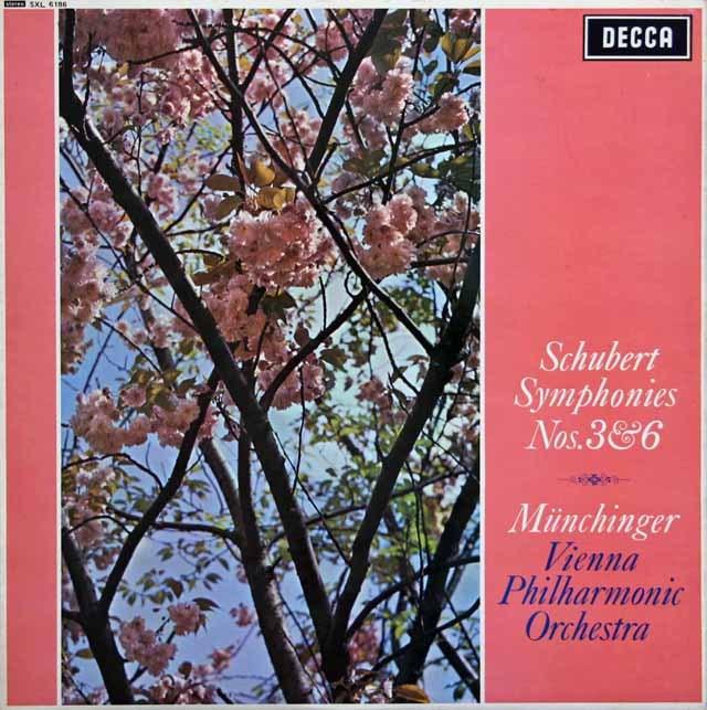 ミュンヒンガーのシューベルト/交響曲第3&6番 英DECCA 2922 LP レコード