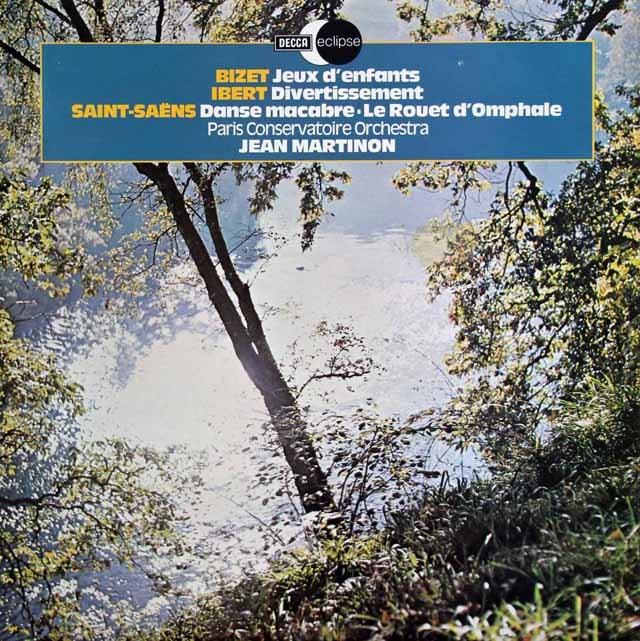 マルティノンのビゼー/「子供の遊び」ほか 英DECCA   2922 LP レコード