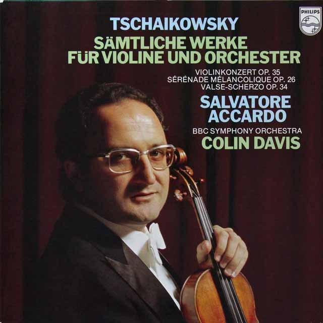 アッカルド&デイヴィスのチャイコフスキー/ヴァイオリン協奏曲ほか 蘭PHILIPS 2703 LP レコード
