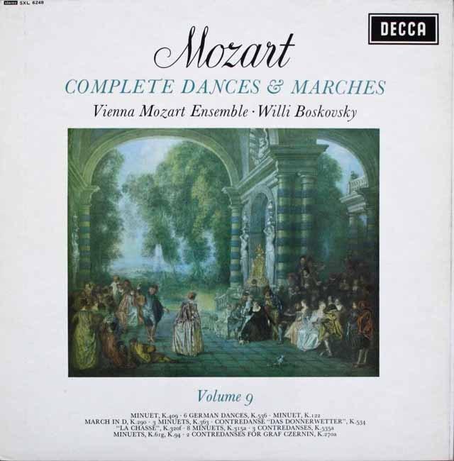 ボスコフスキーの「モーツァルト/舞曲と行進曲全集」(9) 英DECCA 3229 LP レコード