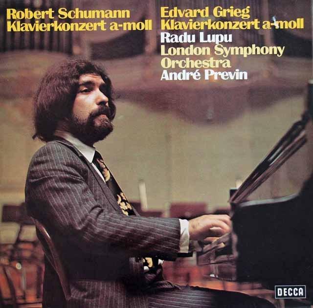 ルプー&プレヴィンのシューマン&グリーグ/ピアノ協奏曲集 独DECCA 2922 LP レコード