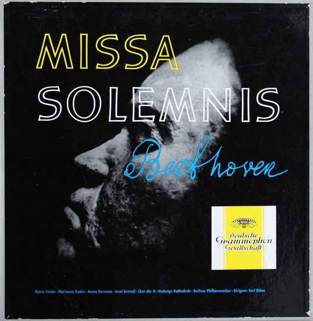 ベームのベートーヴェン/ミサ・ソレムニス 独DGG 3284 LP レコード