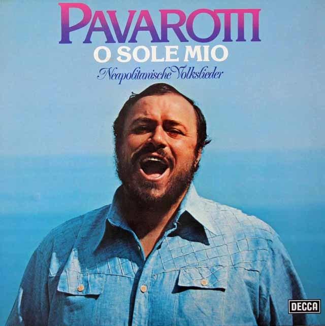 パヴァロッティ「オ・ソレ・ミオ~イタリア民謡集」  独DECCA 3025 LP レコード