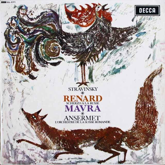 アンセルメのストラヴィンスキー/「きつね」&「マヴラ」ほか 英DECCA 3229 LP レコード