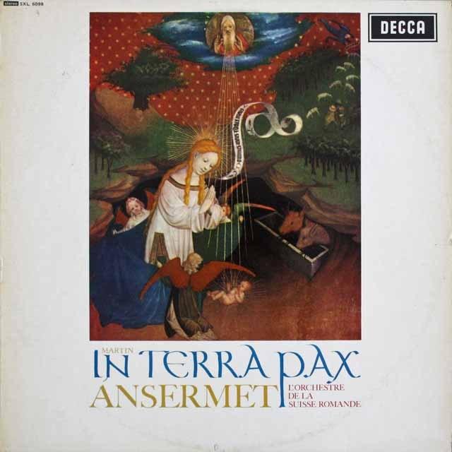 【オリジナル盤】 アンセルメのマルタン/「地には平和を」 英DECCA 3229 LP レコード