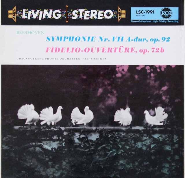 ライナーのベートーヴェン/交響曲第7番ほか 独RCA  2906 LP レコード