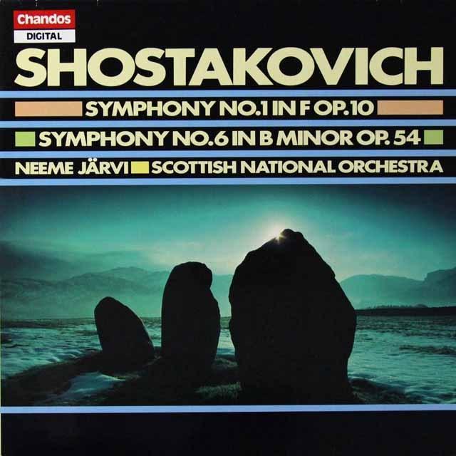 ネーメ・ヤルヴィのショスタコーヴィチ/交響曲第1&6番 英Chandos 3292 LP レコード