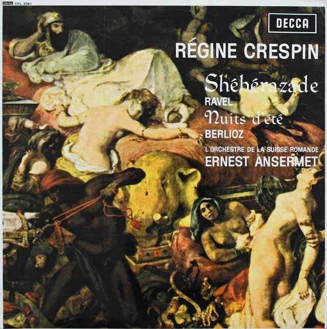クレスパン&アンセルメのラヴェル/「シェヘラザード」ほか 英DECCA 3229 LP レコード