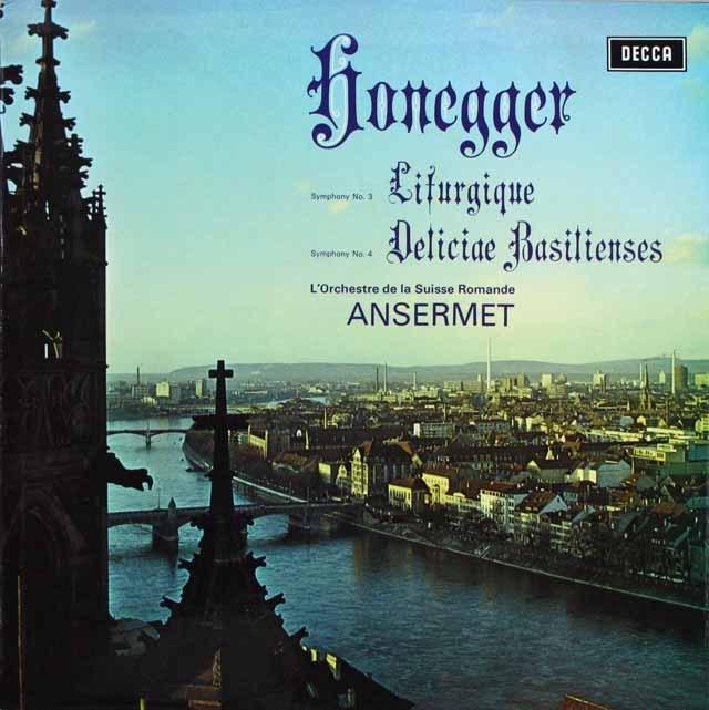 【オリジナル盤】 アンセルメのオネゲル/交響曲第3&4番 英DECCA 3229 LP レコード