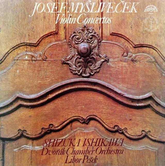 石川&ペシェクのミスリヴェチェク/ヴァイオリン協奏曲集 チェコスロヴァキアSUPRAPHON 3285 LP レコード