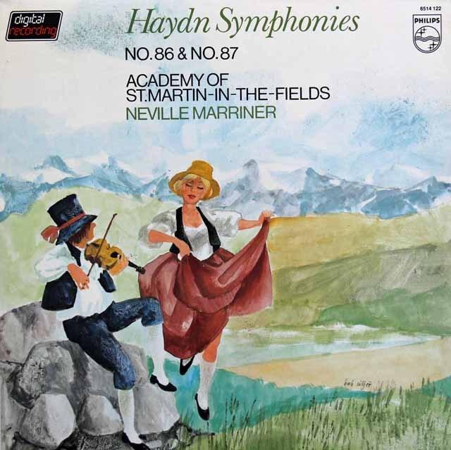 マリナーのハイドン/交響曲第86&87番 蘭PHILIPS 2922 LP レコード