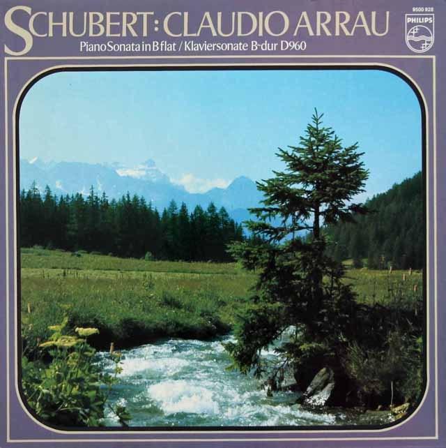 アラウのシューベルト/ピアノソナタ第21番   蘭PHILIPS   2922 LP レコード