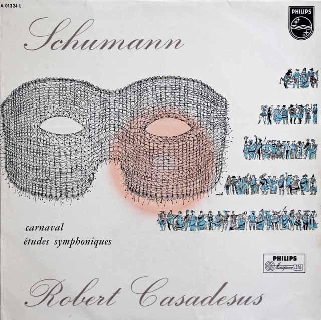 カサドシュのシューマン/謝肉祭&交響的練習曲 独PHILIPS 2922 LP レコード