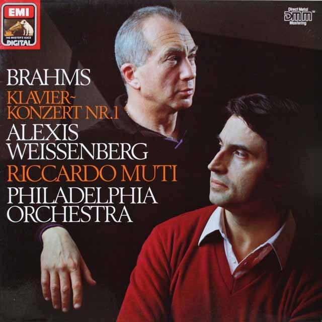ワイセンベルク&ムーティのブラームス/ピアノ協奏曲第1番  独EMI  2619 LP レコード