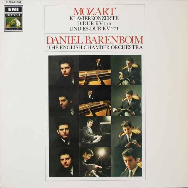 バレンボイムのモーツァルト/ピアノ協奏曲第5&9番「ジュノーム」  独EMI  3334 LP レコード