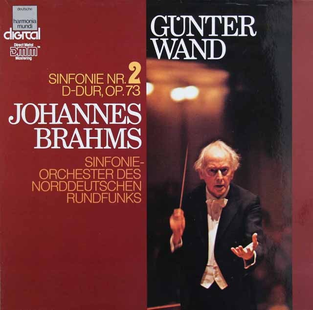 ヴァントのブラームス/交響曲第2番 独HM 2922 LP レコード