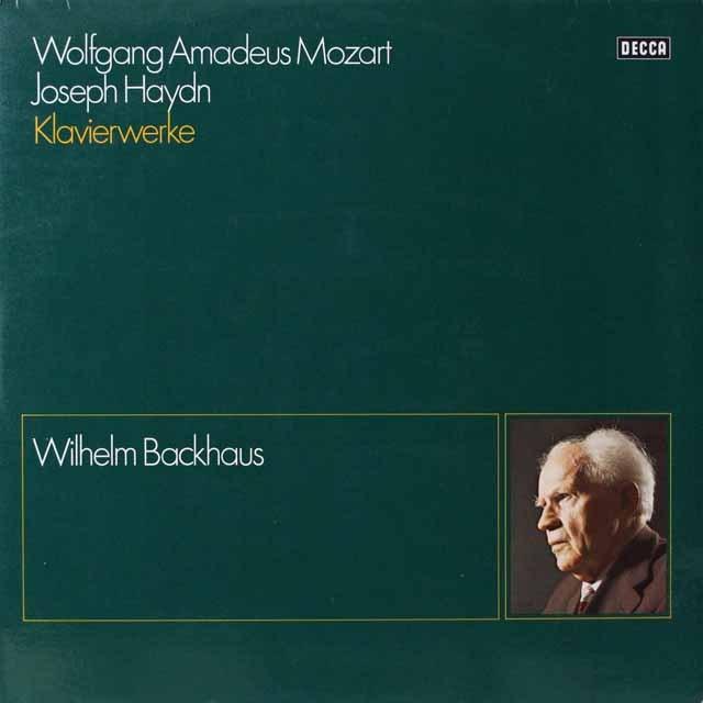 バックハウスのモーツァルト&ハイドン/ソナタ集 独DECCA 3334 LP レコード
