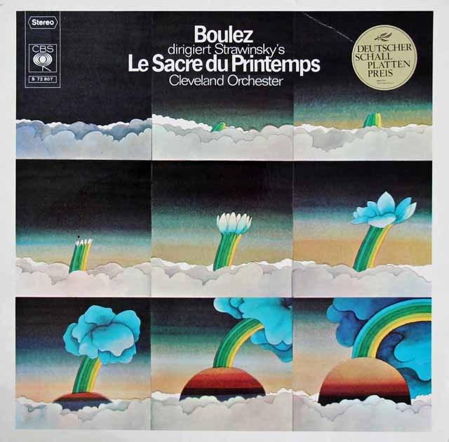 ブーレーズのストラヴィンスキー/「春の祭典」  独CBS 2838 LP レコード
