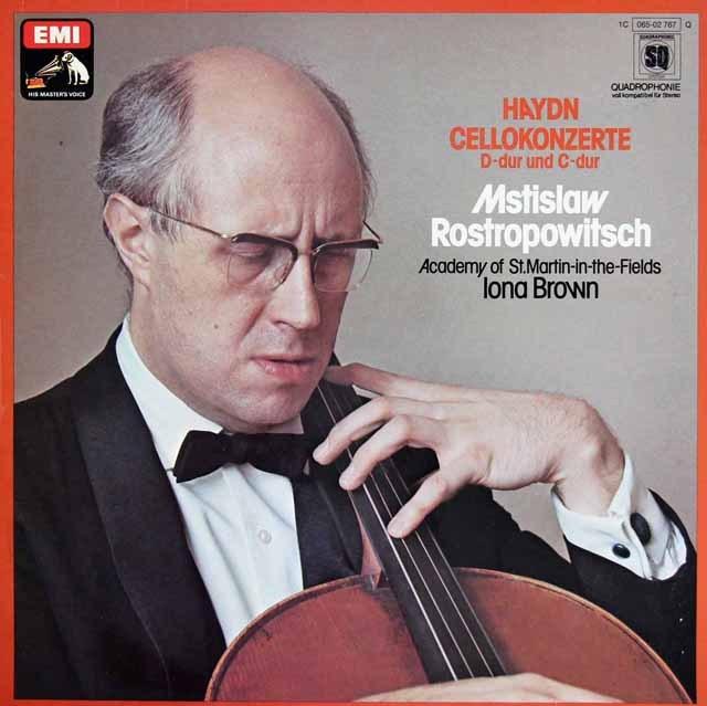 ロストロポーヴィチのハイドン/チェロ協奏曲第1&2番 独EMI 3219 LP レコード