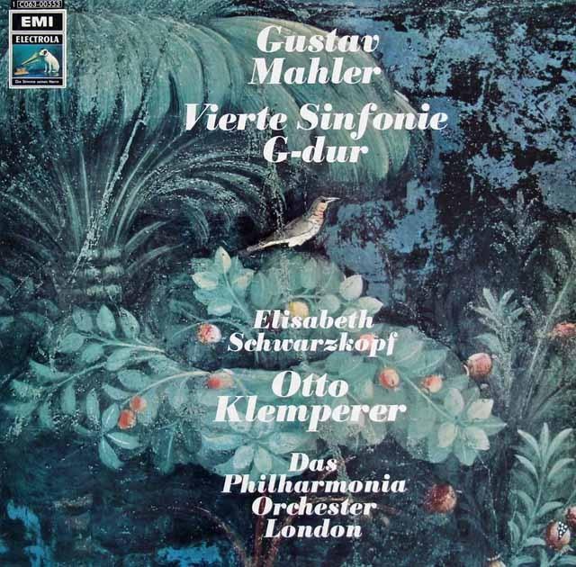 クレンペラー&シュヴァルツコップのマーラー/交響曲第4番 独EMI 2838 LP レコード