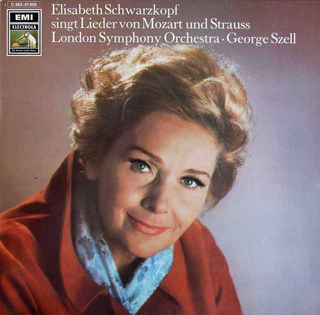 シュヴァルツコップ&セルのモーツァルト&R.シュトラウス/歌曲集 独EMI 3219 LP レコード