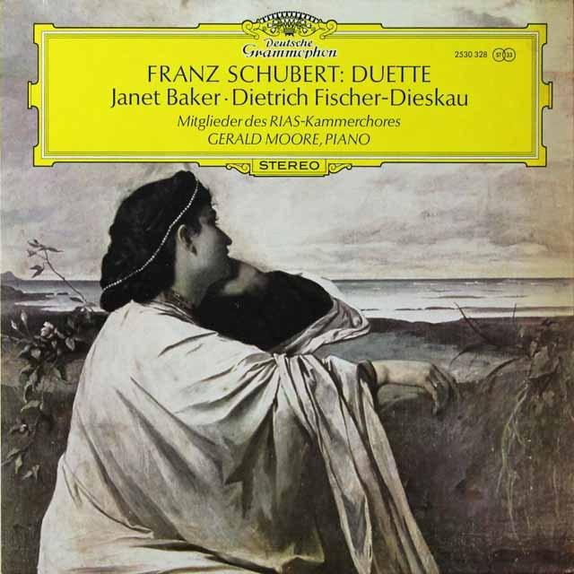 ベイカー&フィッシャー=ディースカウのシューベルト/二重唱集 独DGG 3292 LP レコード