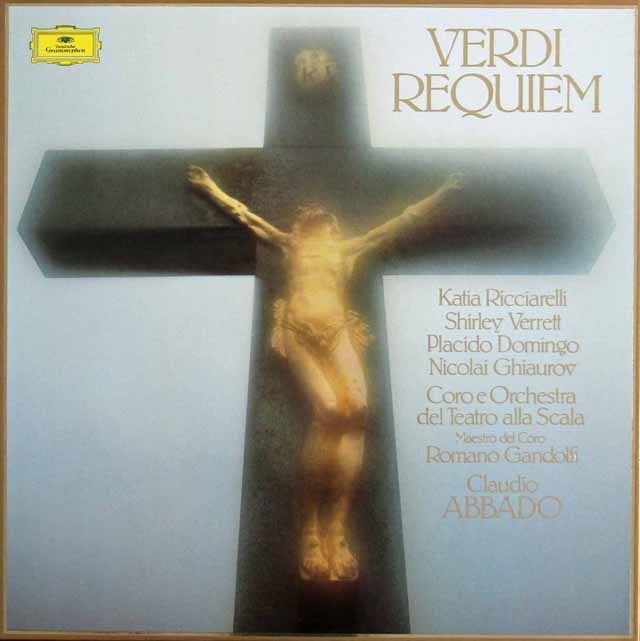 【直筆サイン入り】 アバド&スカラ座のヴェルディ/「レクイエム」 独DGG 3219 LP レコード