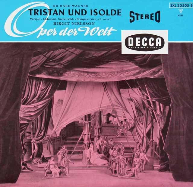 ニルソン&クナッパーツブッシュのワーグナー/「トリスタンとイゾルデ」より 独DECCA 3010 LP レコード