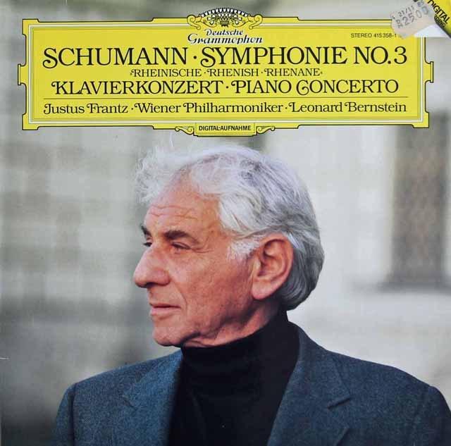 バーンスタイン&フランツのシューマン/交響曲第3番「ライン」&ピアノ協奏曲 独DGG 3219 LP レコード