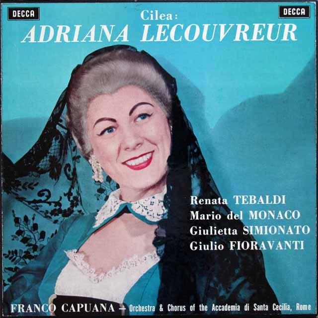 テバルディ、デル=モナコ&カプアーナのチレア/「アドリアーナ・ルクヴルール」 英DECCA 2922 LP レコード