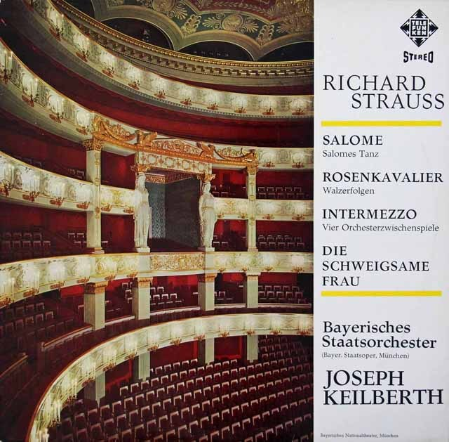 カイルベルトのR.シュトラウス/管弦楽曲集 独TELEFUNKEN 3010 LP レコード