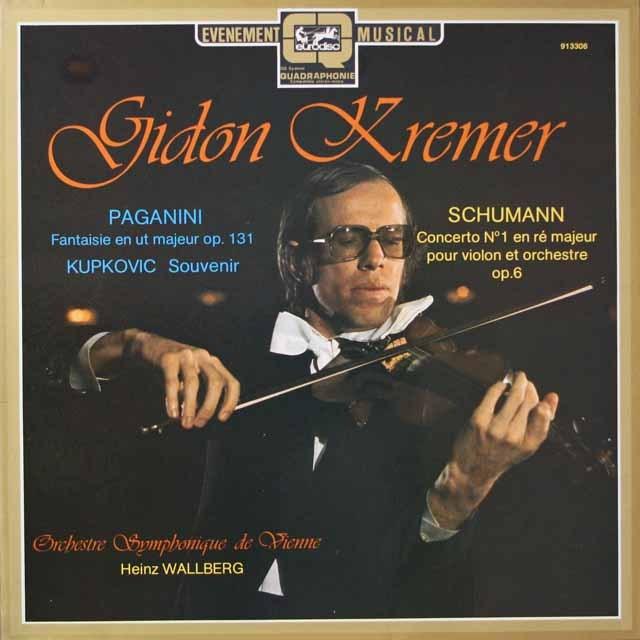 クレーメルのパガニーニ/ヴァイオリン協奏曲第1番ほか  独eurodisc  3334 LP レコード