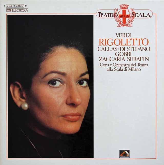 カラスのヴェルディ/「リゴレット」全曲 独EMI 2922 LP レコード