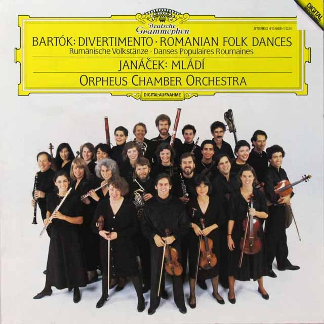 オルフェウス室内管弦楽団のバルトーク/「ディヴェルティメント」ほか  独DGG 2706 LP レコード