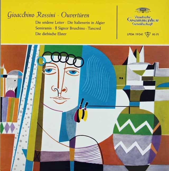 フリッチャイのロッシーニ/序曲集 独DGG 3392 LP レコード