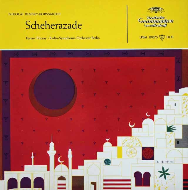 フリッチャイのリムスキー=コルサコフ/「シェヘラザード」 独DGG 3010 LP レコード