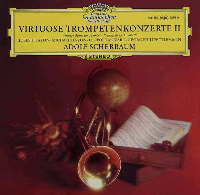 シェルバウムのヴィルトーゾ・トランペット協奏曲集2 独DGG 2838 LP レコード