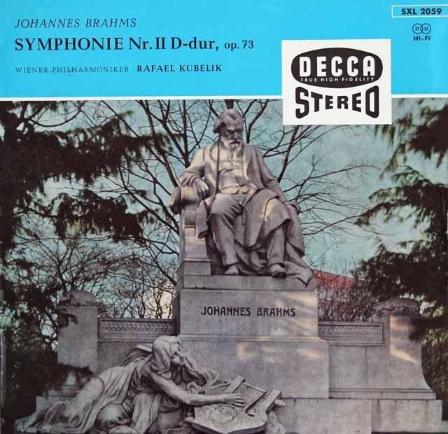 クーベリックのブラームス/交響曲第2番   独DECCA 2838 LP レコード
