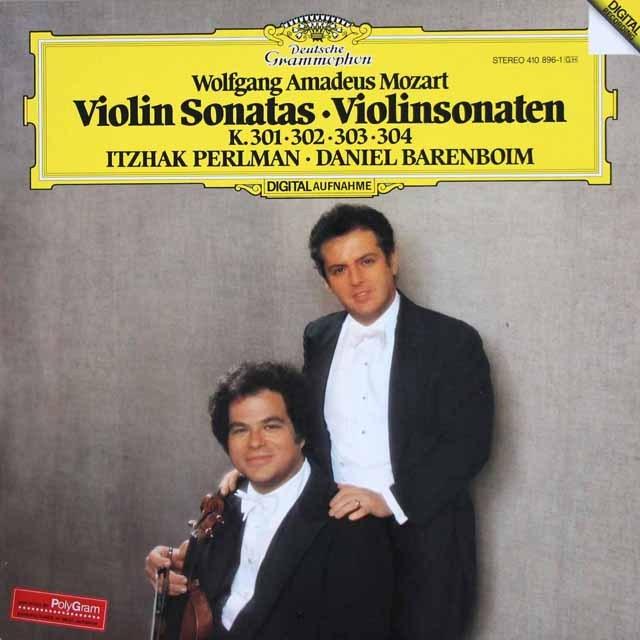 パールマン&バレンボイムのモーツァルト/ヴァイオリン・ソナタ第18~21番 独DGG 2935 LP レコード
