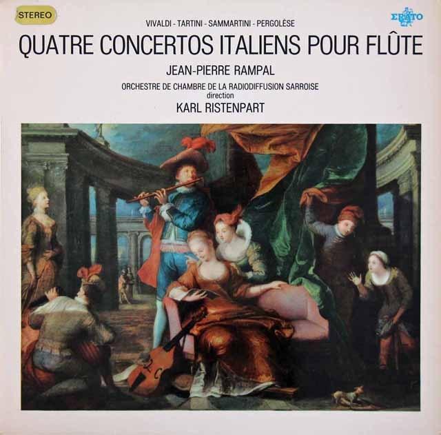 【オリジナル盤】ランパル&リステンパルト/イタリアの4つのフルート協奏曲集 仏ERATO 3010 LP レコード