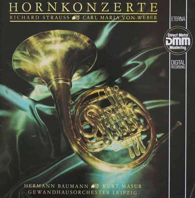 バウマン&マズアのR.シュトラウス/ホルン協奏曲第1&2番ほか 独ETERNA 3010 LP レコード