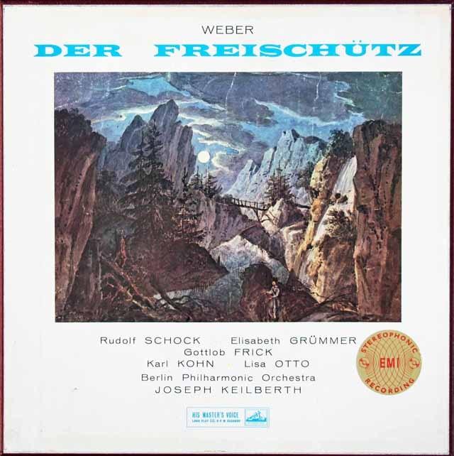 【オリジナル盤】カイルベルトのウェーバー/「魔弾の射手」全曲 英EMI(HMV) 3010 LP レコード