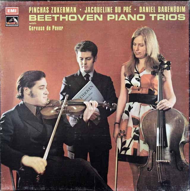 【オリジナル盤】デュ・プレ、ズッカーマン&バレンボイムのベートーヴェン/ピアノ三重奏曲集 英EMI 3010 LP レコード