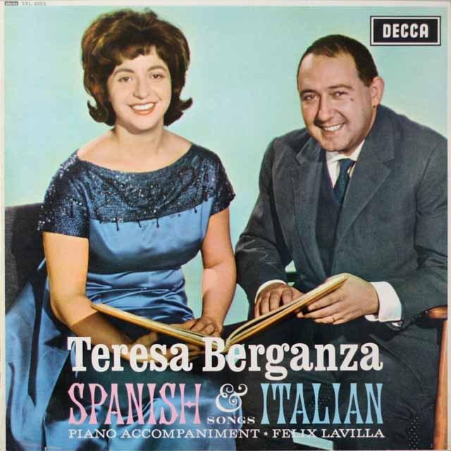 ベルガンサの「イタリア&スペイン歌曲集」 英DECCA  2620 LP レコード