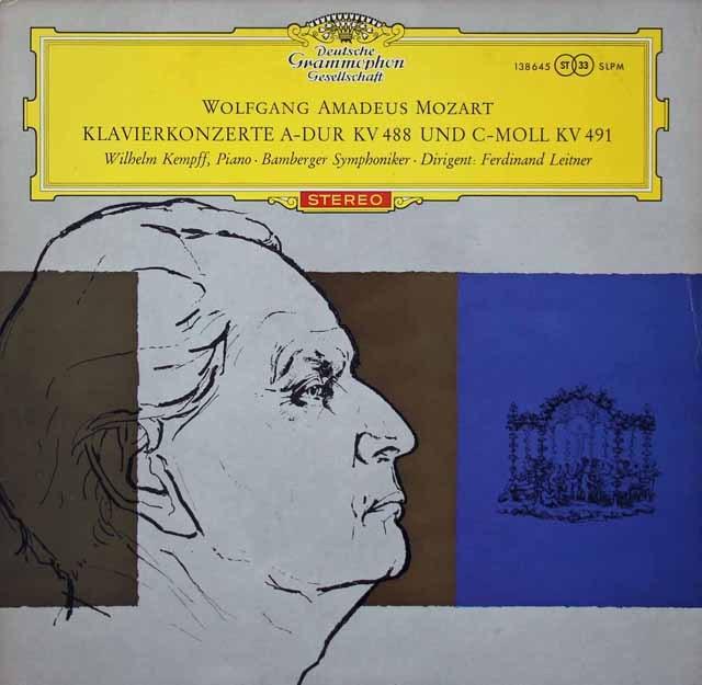【赤ステレオ/独最初期盤】 ケンプのモーツァルト/ピアノ協奏曲第23&24番 独DGG 3398 LP レコード